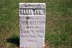 Sarah Ann Mattison