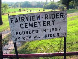 Fairview-Rider Cemetery