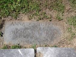 Anna A <i>Murray</i> Mudd