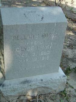 Beulah B <i>Horne</i> Henry