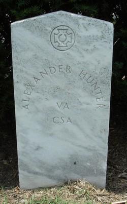 Pvt Alexander Hunter