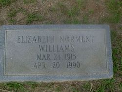 Mary Elizabeth Lib <i>Norment</i> Williams