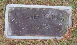 Agnes <i>Sims</i> Adams