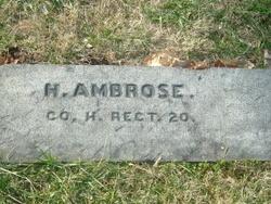Pvt Harrison Ambrose