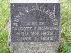 Anna M. <i>Callender</i> Burrows