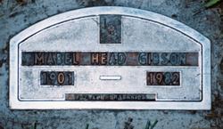 Mabel <i>Bentley</i> Gibson / Head