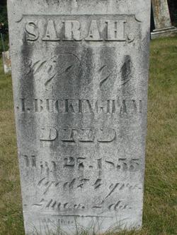 Sarah <i>Jones</i> Buckingham