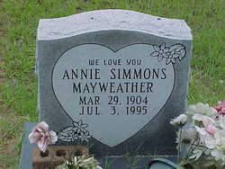 Annie <i>Simmons</i> Mayweather
