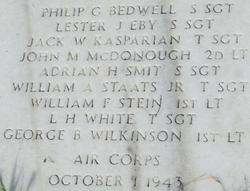 Sgt Philip G. Bedwell