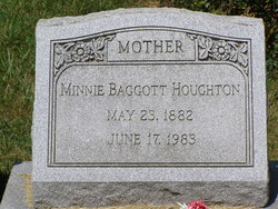 Minnie <i>Sayers</i> Baggott/Houghton