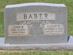 Lillian Rosabelle <i>Robertson</i> Baber