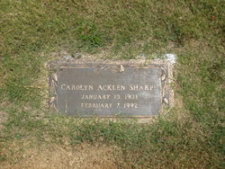 Carolyn <i>Acklen</i> Sharpe