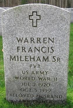 Pvt Warren F. Mileham, Sr