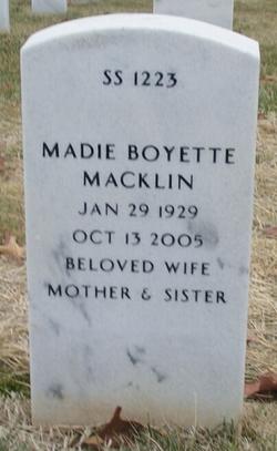 Madie <i>Boyette</i> Macklin