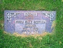 Mary Alice <i>Bentley</i> Lowder