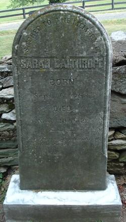Sarah <i>Ayers</i> Balthrope