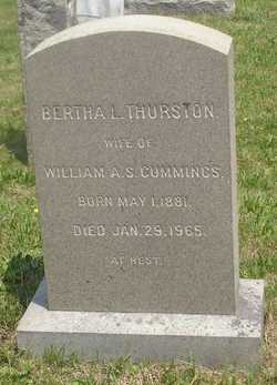 Bertha L. <i>Thurston</i> Cummings