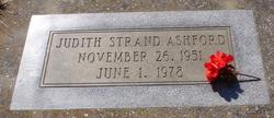 Judith Camille <i>Strand</i> Ashford