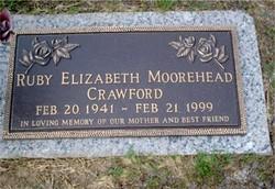 Ruby Elizabeth <i>Daniel</i> Moorehead Crawford