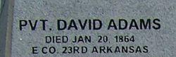 Pvt David Adams