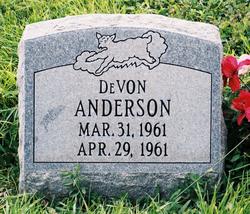 De Von (baby) Anderson