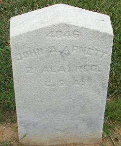 Pvt John A. Arnett
