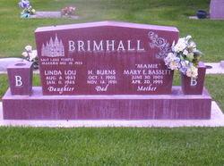 Mary Eliza Mamie <i>Bassett</i> Brimhall