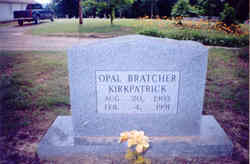 Opal Gracie <i>Rice</i> Bratcher - Kirkpatrick