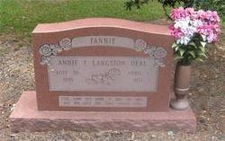 Annie F <i>Langston</i> Deal