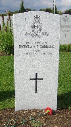 Capt Nichola Kathleen Sara Goddard