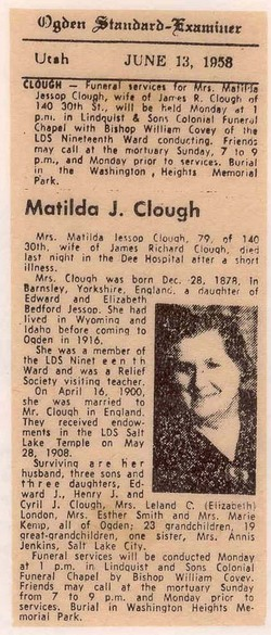 Matilda <i>Jessop</i> Clough