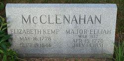 Maj Elijah John McClenahan