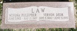 Winona <i>Pulsipher</i> Law