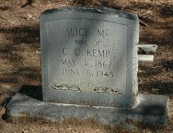 Alice <i>McCue</i> Kemp