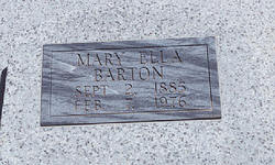 Mary Ella <i>Pate</i> Barton