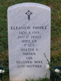 Eleanor <i>Immke</i> Bieder