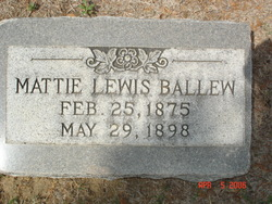 Mattie Mae <i>Lewis</i> Ballew