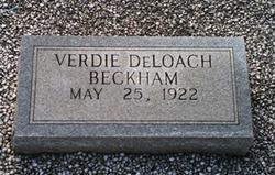 Verdie <i>DeLoach</i> Beckham