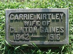 Carrie <i>Kirtley</i> Gaines