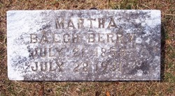 Martha <i>Balch</i> Berry