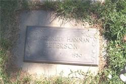Margaret May <i>Hannan</i> Peterson