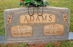Claudia Mae <i>Barnes</i> Adams
