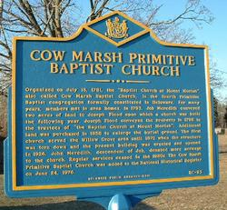 Cow Marsh Baptist Church Cemetery