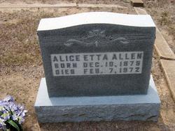 Alice Etta <i>Tiller</i> Allen
