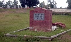 Mountain Springs Cemetery