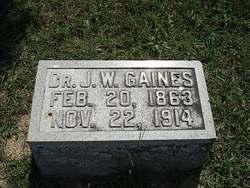Dr J. W. Gaines