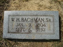 William Henry Bachman, Sr