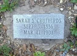 Sarah Ann <i>Swetman</i> Cruthirds