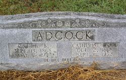 Catherine <i>Wood</i> Adcock