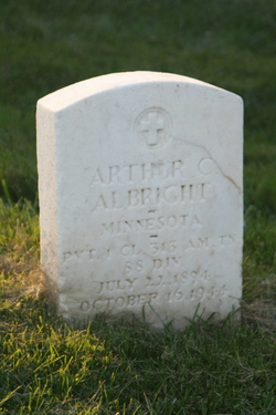 Pvt Arthur Claud Albright